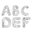 hand drawn letters on white background vector image vector image