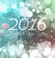 Happy New Year 2016 on Bokeh Light Background vector image vector image