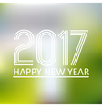 happy new year 2017 on blur abstract background vector image vector image