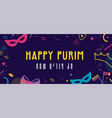 happy purim jewish holiday background and vector image vector image