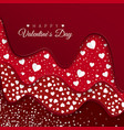 happy valentines day greeting card red layers vector image vector image