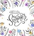 Hello Summer greeting cerd vector image