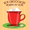 Hot Chocolate Warms vector image vector image