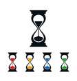 hourglass icons flat time symbols vector image vector image