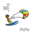 kiteboarding sketch for your design vector image vector image