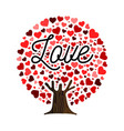 love heart shape tree concept vector image vector image
