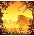 meadow landscape vector image vector image
