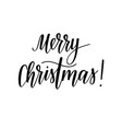 merry christmas holiday greeting lettering vector image vector image