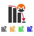 monero falling acceleration chart icon vector image vector image