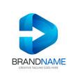 moving forward logo vector image