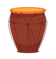 national african tom-tom drum made of wood vector image vector image