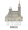 Notre Dame De La Garde Marseilles vector image
