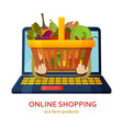 online shopping eco farm products grocery food vector image vector image