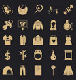 pregnancy icons set simple style vector image vector image