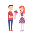 romantic young couple vector image