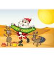 Santa in the desert vector image vector image