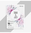 save date wedding invitation card design vector image vector image