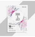 save the date wedding invitation card design with vector image vector image