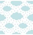 seamless pattern blue cloud in sky rain drop vector image
