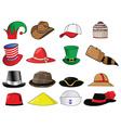 Set of hats vector image vector image