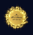 shiny sparkles and snowflakes for christmas vector image