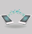 smart phone file transfer concept of files vector image