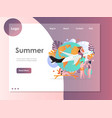 summer website landing page design template vector image