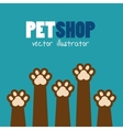 symbol pet shop paw print brown icon vector image vector image