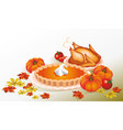 thanksgiving day design for the decoration vector image vector image