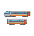 train line icon concept train flat sign vector image vector image