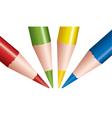 vector colored pencils vector image vector image