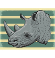 vintage background with rhino vector image vector image
