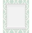 vintage frame moldings on retro wallpaper vector image