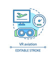 vr aviation concept icon