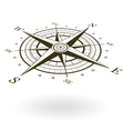 Wind rose isolated on white background vector image