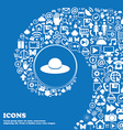 Woman hat icon sign Nice set of beautiful icons vector image