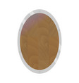 wooden shield flat oval form vector image