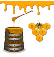yellow honey vector image