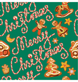 Seamless pattern with xmas gingerbread vector image