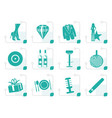 stylized luxury party and reception icons vector image