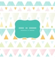 Abstract ikat triangles stripes frame seamless vector image