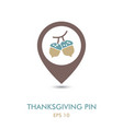acorn mapping pin icon harvest thanksgiving vector image vector image