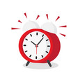 alarm clock wake-up time vector image vector image