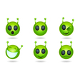 alien faces vector image