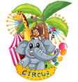 Animals in the circus vector image vector image