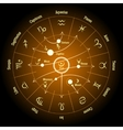 Astrological zodiac and planet signs Planetary vector image vector image