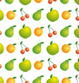 Background of beautiful and juicy fruits vector image vector image