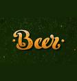 beer hand lettering vintage poster design vector image