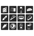 Black Shop food and drink icons 2 vector image vector image