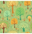Bright spring seamless pattern of a green forest vector image vector image